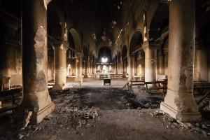 zerstoerte Kirche in Karakosch [15225]